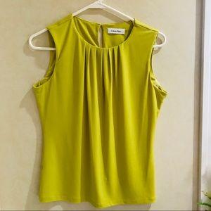 Calvin Klein's green blouse
